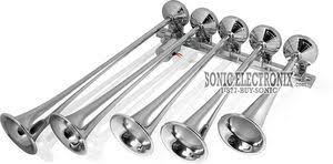 omega ah 500 ah500f chrome 5 trumpet train air horns ah 500f omega ah 500