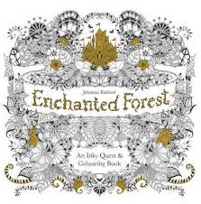 enchanted forest an inky quest and colouring book paperback
