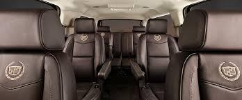 cadillac escalade 2015 black interior. three rows of seating in the cadillac escalade 2015 black interior