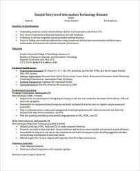 40 Printable Information Technology Resume Templates PDF DOC Beauteous Information Technology Resume