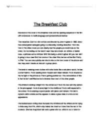 deconstruct the cover of the breakfast club and the opening  page 1 zoom in