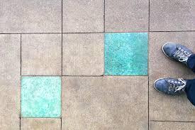 shimmering glass pavers at the vancouver skytrain station interstyleglass floortile glasstile