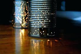 tin can lights displaying ad for 5 seconds mexican punched tin star lights