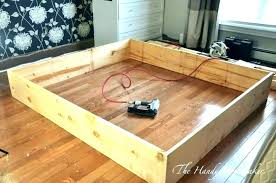 build a king bed frame cal king bed frame king bed frame with storage build your
