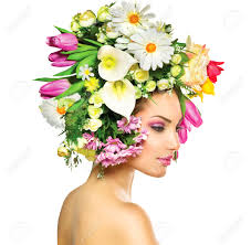 Flower Hair Style beauty spring girl with flowers hair style stock photo picture 4913 by wearticles.com