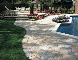 ... Impressive Outdoor Pictures Of Exterior Decoration Patio Paver Design  Ideas : Mind Blowing White Natural Stones ...