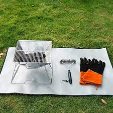 Amazon Com Fmxymc Fire Pit Mat Camping Grill Mat Fireproof Grill Pad Heat Resistant Ember Firepit Mat Deck Protector For Chiminea Solo Bonfire Grill Stove 4635cm 18 1113 78inch Home Kitchen