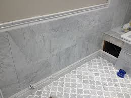 BTileb Install  White BMarbleb Bathroom River City B - Installing bathroom tile floor