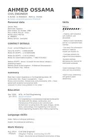 Civil Site Engineer Resume samples. Work Experience