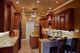 kitchen peninsula lighting. Golden Moon Granite Kitchen Peninsula With Two Pendant Lights Lighting I