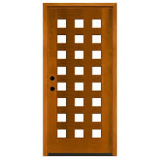 steves sons 36 in x 80 in modern 24 lite obscure stained mahogany