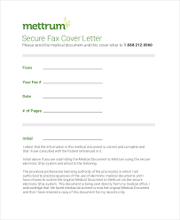 secure fax cover letter example cover letter for faxing documents
