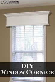 contemporary window with wood window cornice u