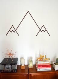 love this DIY Washi Tape Mountain Wall Art
