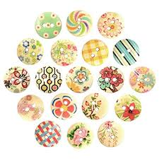 Polytree 100Pcs Sewing Wooden Buttons Round ... - Amazon.com