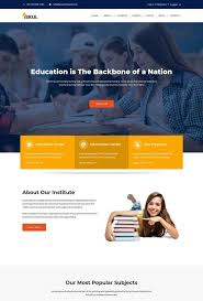 Templates For Education 70 Best Education Website Templates Free Premium