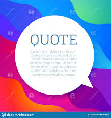 Vector Text Quote Frame Stock Vector Illustration Of Brochure
