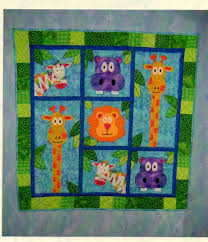 Kid Bedroom: Gorgeous Green Zoo Themed Baby Quilt Design As Baby ... & Beautiful Baby Bedroom Accessories And Quilt Design For Your Beloved Babies  : Gorgeous Green Zoo Themed Adamdwight.com