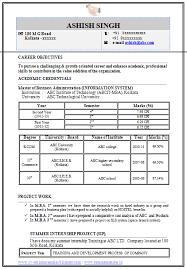 Mba Resume Format Doc Resume Template Easy Http Www