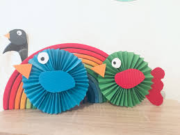 Bunte Vögel Aus Papier Falten Basteln Mit Kindern Der