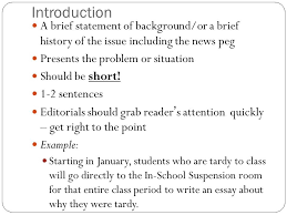 what is an editorial an article that states the newspaper s  7 introduction