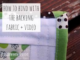 Binding a Quilt with the Backing Fabric - Video - & binding a quilt with the backing fabric is simple and quick. the video will  show Adamdwight.com