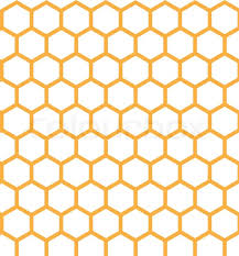 Beehive Pattern Impressive Honeycomb Grid Seamless Pattern Stock Vector Colourbox