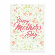 Mothers Day Card Flowers Printable
