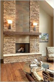 fireplace rock wall whitewashed stone 1 remove install