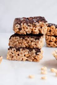 healthy cereal bars with chocolate