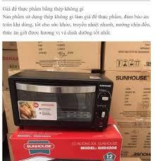 ⭐Lò Nướng Điện Sunhouse SHD4206 - Dung tích 10L- Kèm khay nướng - Công suất  1000W - Có hẹn giờ - Bếp nướng: Mua bán trực tuyến Lò nướng tích hợp với
