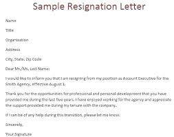Examples Of Resign Letters Resignation Letter Template Word Document Free Of Tailoredswift Co