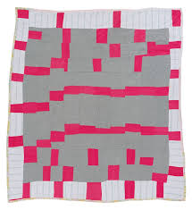 Quilts of Gees Bend   Innovative Black Artists Exhibit & The Quilts of Gees Bend (1816-Present). Path through the Woods. Polyester  knit, 73 x 69. 1971 Adamdwight.com