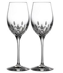 waterford crystal lismore essence white wine glasses set of 2