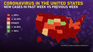 Covid-19 cases are surging in 46 states ...