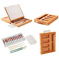 table easel acrylic paint set