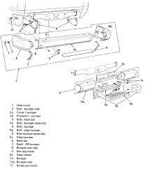 11 trooper rear bumper assembly 1984 94 models