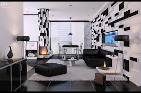 modern black white. plain black living roomfashionable modern black and white room decor idea  impressive intended i