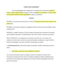 Free Consultant Contract Template Feat Consulting Contract Templates ...