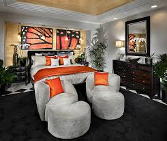 view in gallery luxurious master bedroom in black and orange by possibilities for design