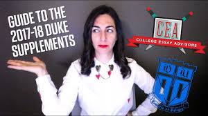 guide to the duke university supplemental essays  guide to the 2017 2018 duke university supplemental essays