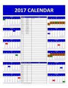Calendar: Employee Schedule Calendar Template