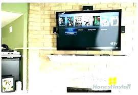 mounting tv on brick mounting tv brick fireplace