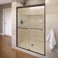 semi frameless sliding door in oil