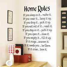 home rules vinyl art wall decals quotes removable wall stickers