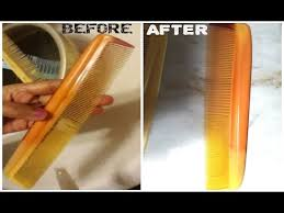 diy how to clean combs hair brushes at