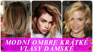 Modní Ombre Krátké Vlasy Dámské самые лучшие видео