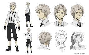 anime character design sheet. Fine Anime Bung Stray Dogs Animeu0027s Character Design Sheets Unveiled And Anime Sheet