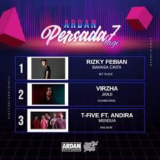 Ardan Chart Ardan Persada 7 Lagi Yang Jadi Juara Minggu Ini Ada 1