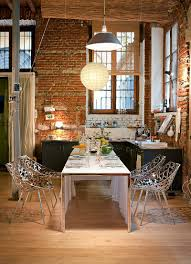 the brick condo furniture. Brick Wall In The Kitchen Becomes A Part Of Dining Room Visual [Design: Condo Furniture